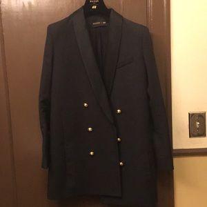 Balmain x H&M long black blazer